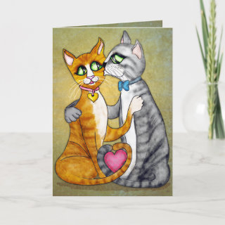 Hugs and kisses for sweetheart card