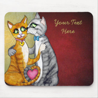 Hugs and kisses for sweetheart mouse pad