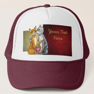 Hugs and kisses for sweetheart trucker hat