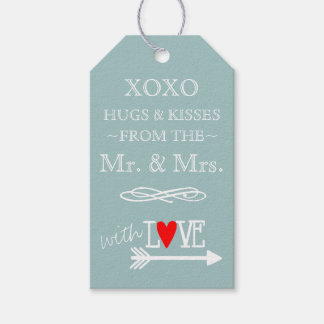 Hugs and Kisses From The Mr and Mrs Blue Gift Tags
