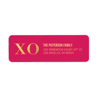 Hugs and Kisses | Gold Shine Address Labels