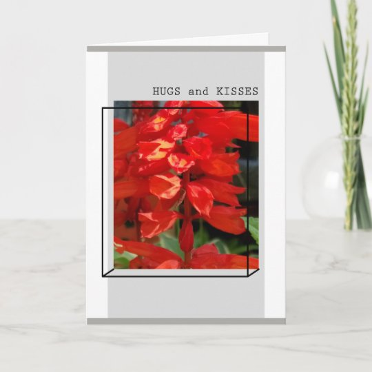 Hugs and kisses greeting card zazzle hugs and kisses greeting card m4hsunfo