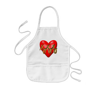 Hugs and Kisses Heart T-shirts and Gifts Kids' Apron