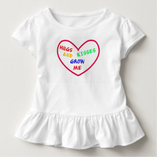 """Hugs and Kisses Heart, Toddler Ruffle T Toddler T-shirt"