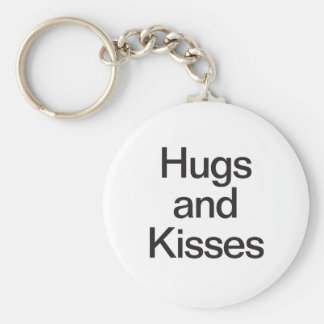 hugs and kisses key chain