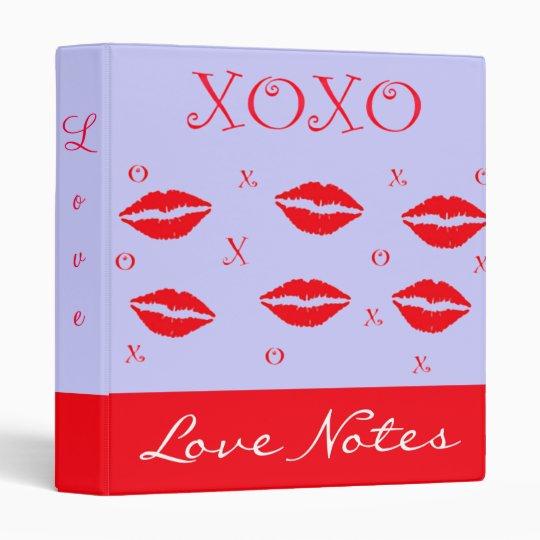 Hugs And Kisses Love Notes Binder