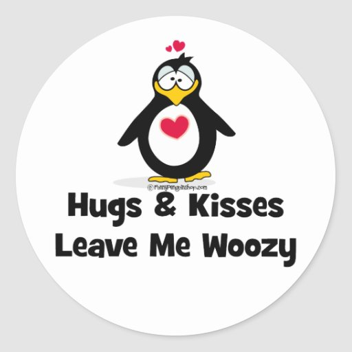 Hugs and Kisses Make Me Woozy Sticker