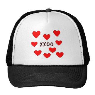 Hugs and Kisses Mesh Hats