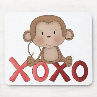 Hugs and Kisses monkey Mousepads