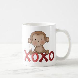 Hugs and Kisses monkey Mugs