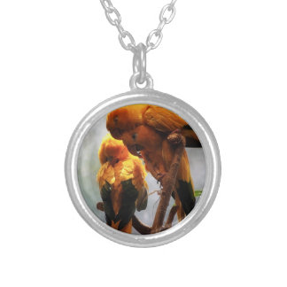 Hugs and Kisses Round Pendant Necklace