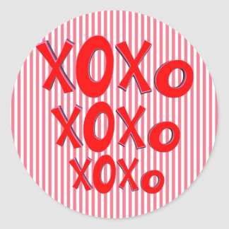 Hugs And Kisses Round Stickers