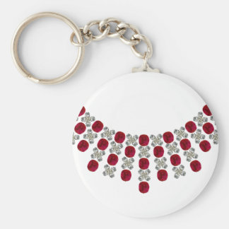 Hugs and Kisses Ruby Necklace Keychains