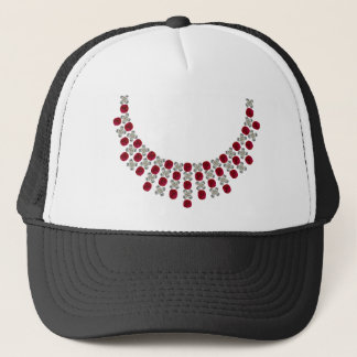 Hugs and Kisses Ruby Necklace Trucker Hat