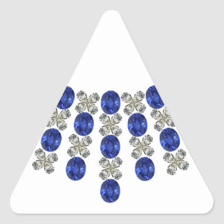 Hugs and Kisses Sapphire Necklace Triangle Sticker