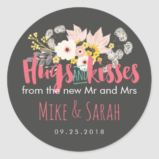 Hugs and Kisses Spring Flower Bouquet Sticker