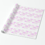 Hugs and Kisses Tic-tac-toe Pink/White Paper Wrapping Paper
