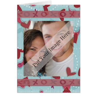 Hugs and Kisses Valentine Photo Card