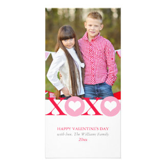 Hugs and Kisses Valentine's Day Photo Cards