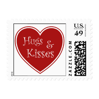 Hugs and Kisses - valentines stamp