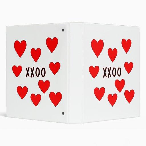 Hugs and Kisses Vinyl Binder
