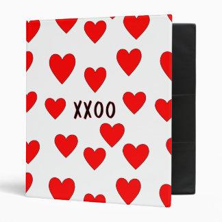 Hugs and Kisses Vinyl Binders