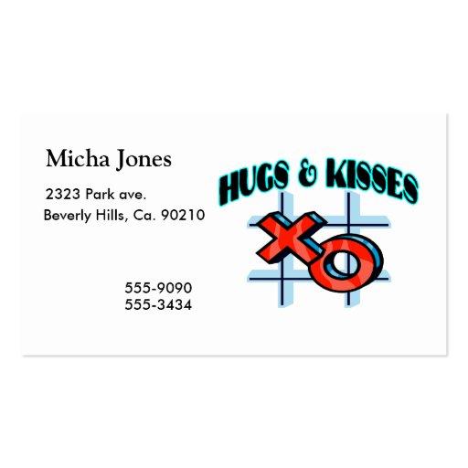 Hugs And Kisses XO Business Card
