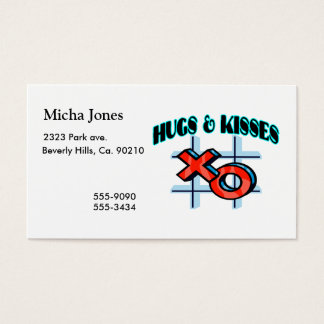 Hugs And Kisses XO Business Card