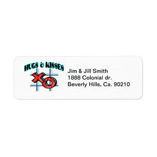 Hugs And Kisses XO Return Address Label