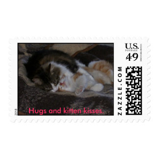 Hugs and kitten kisses. stamps
