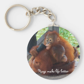 Hugs are Important Basic Round Button Keychain