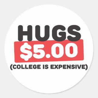 Hugs Classic Round Sticker