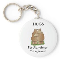Hugs for Alzheimer Caregivers Keychain
