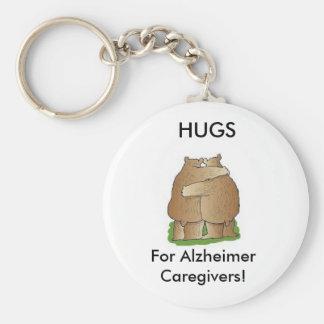 Hugs for Alzheimer Caregivers Keychain