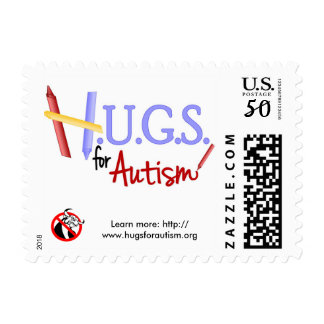 HUGS for Autism Priority Mail Postage Stamp