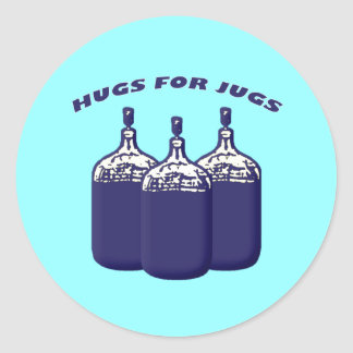 Hugs For Jugs Classic Round Sticker