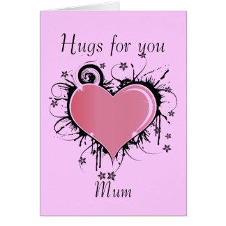 Hugs For Mum Card