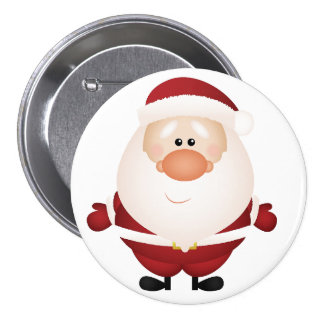 Hugs from Santa Claus Button