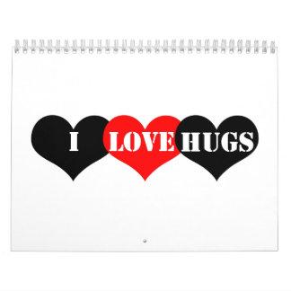 Hugs Heart Wall Calendar