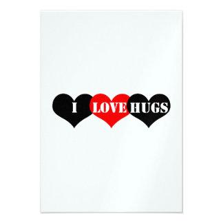 Hugs Heart Custom Invites