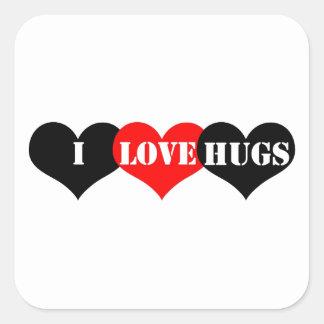 Hugs Heart Square Sticker