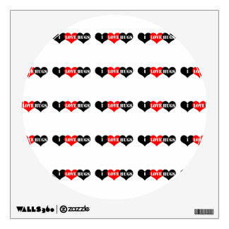 Hugs Heart Wall Decal