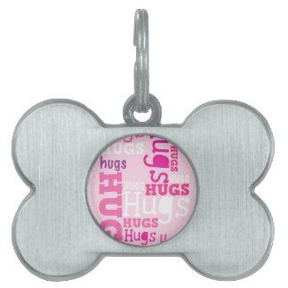 HUGS HUGS HUGS PET NAME TAG