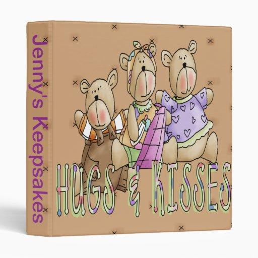 Hugs & Kisses 3 Ring Binder