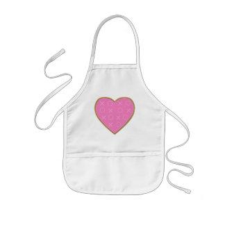 Hugs Kisses Heart Valentines kids apron