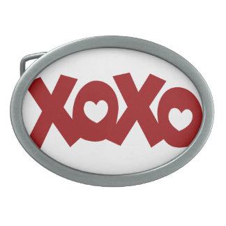 Hugs & Kisses Love & Hearts Belt Buckle