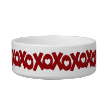 Hugs & Kisses Love & Hearts Bowl