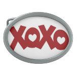 Hugs & Kisses Love & Hearts Oval Belt Buckle