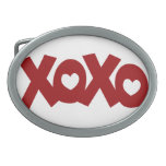Hugs & Kisses Love & Hearts Oval Belt Buckles