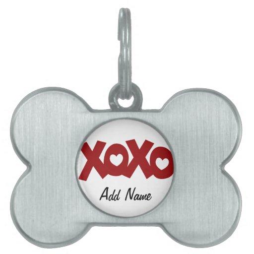 Hugs & Kisses Love & Hearts Pet ID Tag